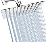 GGStudy Shower Head Rainfall 8 inch High Pressure Shower Heads 360 Degree Adjustable