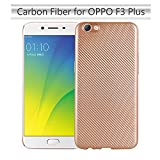 Forhouse Phone Hülle für Oppo F3 Plus Hülle Backcase Durable Back Bumper Cover [ Golden ]