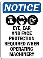 ヴィンテージスタイルのメタルサイン通知目の耳と顔がおかしい警告サインプロパティ通知サインプラークの家の装飾レトロなアルミメタルサインブリキ看板