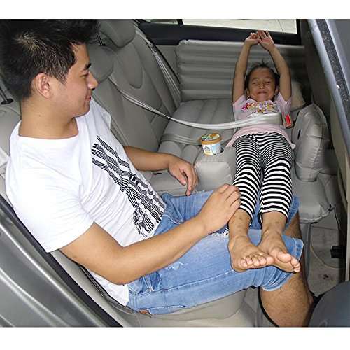 YZY Air Matelas Auto-Conduite Tour Voiture Enfant Matelas Voyage Lit Multifonctionnel Coussin De Couchage Bébé Air Lit Confortable (Couleur : Gray)