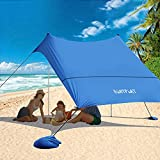 Best Beach Canopies - SUNYPLAY Family Beach Tent with Sandbag Anchors,10'x10' Pop Review