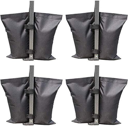 Bolso de arena de fijación de la tienda, 4pcs Impermeable Oxford Tela de la tela de la arena de la tela de la carpa al aire libre Sombrero de sol paraguas fijación bolsa de peso, adecuado para tamaños