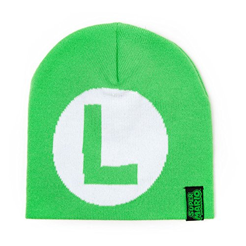 Nintendo Super Mario Knitted Luigi Logo Beanie - Size L - Green [import anglais]