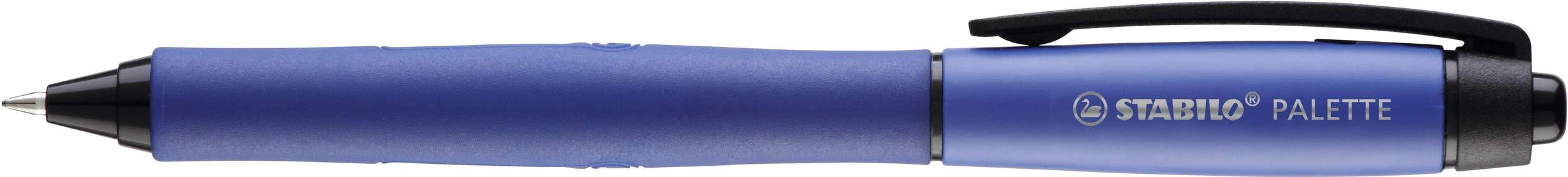 Punta F Blister 1 unidad Roller tinta gel retr/áctil STABILO PALETTE Color azul