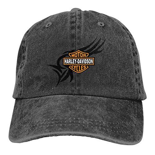 Harley Davidson, cappello da cowboy, berretto da baseball in cotone, unisex, per tutte le stagioni, comodo e traspirante Nero Taglia unica