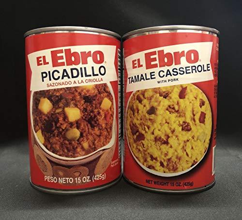 El Ebro Variety Pack, 15 oz, Picadillo Sazonado a la Criolla, Tamal en Cazuela Con Carne De Cerdo (12)