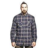 Regatta Tavior Camisa a Cuadros y Manga Larga de algodón Coolweave y Forro de poliéster Shirts, Hombre, Seal Grey, XL