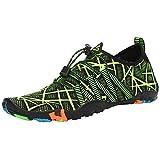 SAGUARO Escarpines Zapatos de Agua Calzado Playa Zapatillas Deportes Acuáticos para Buceo Snorkel Surf Natación Piscina Vela Mares Rocas Río para Hombre Mujer(019 Verde, 43 EU)