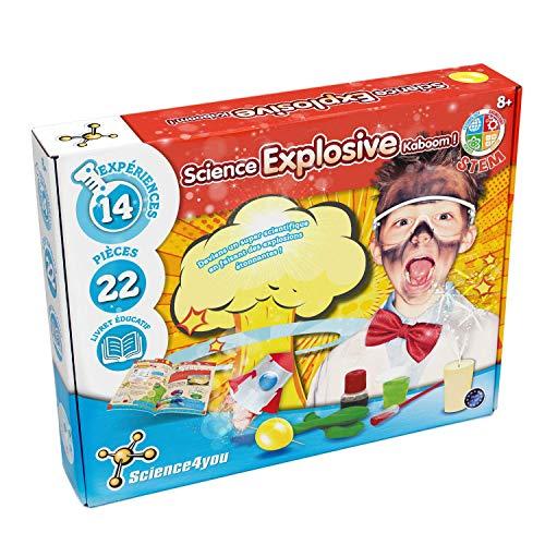 Science4You - Science Explosive - Jouet Enfant - Jeu Educatif et Scientifique - Labo Chimie - Création et Découverte - Coffret Scientifique Enfant - Le Cadeau Parfait pour Petits Chimistes dès 8 ans