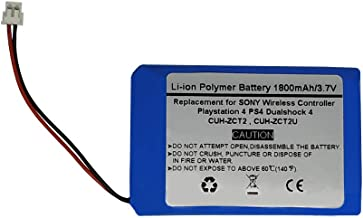 1800mAh 3.7V Replacement Battery For Sony Playstation 4 PS4 Dualshock 4 Wireless Controller CUH-ZCT2, CUH-ZCT2U, New 2016 ...