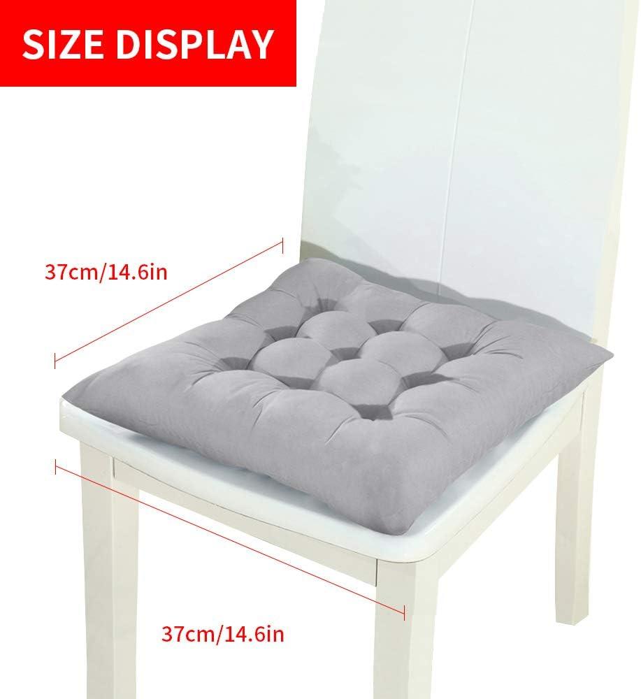 coj/ín para silla para interior y exterior 1//2//4 unidades color azul coj/ín de asiento coj/ín de suelo coj/ín de lino 37 x 37 cm ChicSoleil Coj/ín para silla