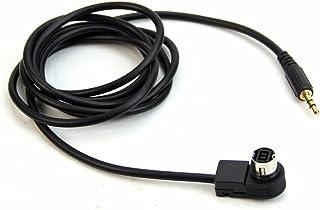 SODIAL 1PC Coche Mini ISO 6Pin a 3.5MM Jack Audio Dispositivo Externo Adaptador de Cable AUX para Fiat Grande Punto Alfa 159