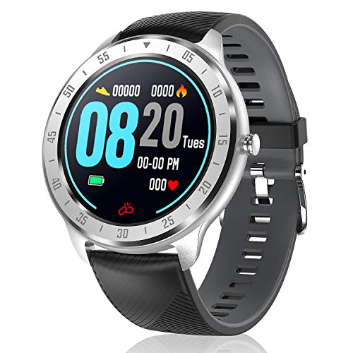 CanMixs Smartwatch Fitness Armband, Voller Touch Screen Fitness Tracker Uhr mit Wasserdicht IP67, CM13 Bluetooth Smart Watch Sportuhr mit Schrittzähler Pulsuhren Stoppuhr für Damen Herren iOS Android