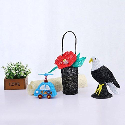 3D Stifte für Kinder mit LCD Display, 3D Druckstift, 3D Stift Set mit 1,75 mm PLA Filament für Kinder, Erwachsene, Kritzelei, Zeichnung und Kunst & handgefertigte Werke - 8
