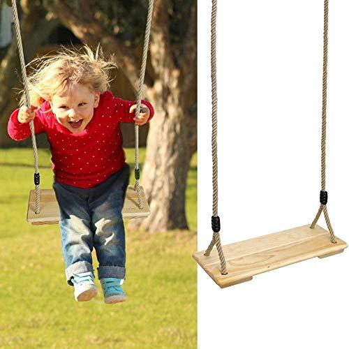 earlyad Kinder schwingen mit PE-Seil Holzsitz Hochwertige Schaukel Kinder-Fitness-Schaukel mit verstellbarem Seil pro Seite