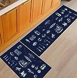 OPLJ Alfombrilla de Cocina Creativa geométrica Antideslizante Tapete de baño Lavable Sala de Estar Pasillo Dormitorio Entrada Felpudo A10 50x160cm