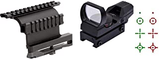 GOTICAL Heavy Duty AK47 AK-47/SKS Side Mount Heavy Duty + Special Edition Reflex Red/Green Dot Sight with 4 Reticles