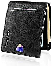 DCC FIONNI 財布 メンズ 二つ折り メンズ カード11枚とお札入れる二つ 薄型財布 Nappa本革で作り 牛革 RFID防止 男性ウォレット本革
