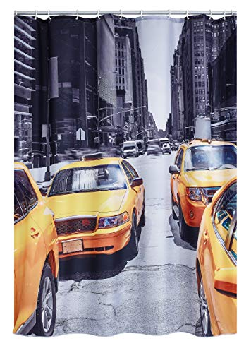 RIDDER 4013300 - Cortina de Ducha (Tela, 180 x 200 cm), diseño de Nueva York