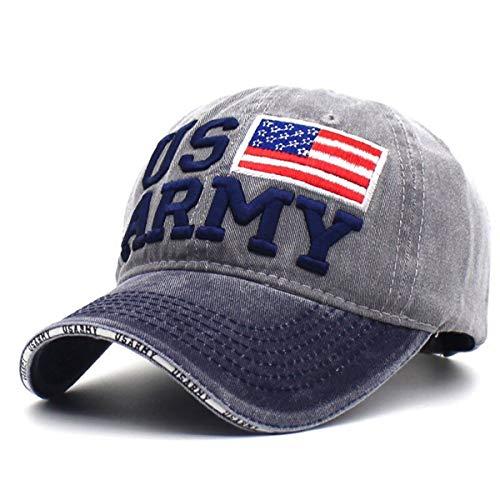 Aavjo Men Women Sun Visor Cap (Fit Head Size, Approx 55-60cm) US Army – Grey