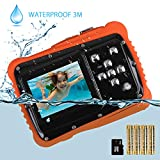 Kids Waterproof Camera, Digital Underwater Camera for Kids, 12MP HD Underwater Camera for Boys and Girls with 3M Waterproof, 2.0 Inch LCD Screen, and Flash with 8G SD Card and Non-Rechargeable Battery