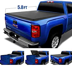 Tyger Auto T3 Soft Tri-Fold Truck Bed Tonneau Cover for 2014-2019 Chevy Silverado/GMC Sierra 1500 2019 Classic ONLY Fleetside 5.8' Bed TG-BC3C1006