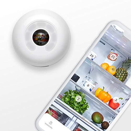 FridgeCam by Smarter (Latest Version with Food Tracking) - Wi-Fi Fridge Camera, Make Any Fridge Smart, Universal Mount for all Fridges Included, Free iOS and Android App, Works with Alexa