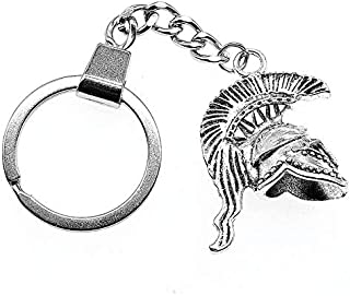 XJS Key Chain 3D Retro Roman Soldier Keyring 3D Retro Roman Soldier Helmet Keychain Roman Soldier Key Chain Gifts for Men ...