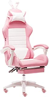 Gaming Chair Home Office Game Girl Heart Seat Racing Racing Silla Pink Master Live Computer Silla-Classic+Footrest