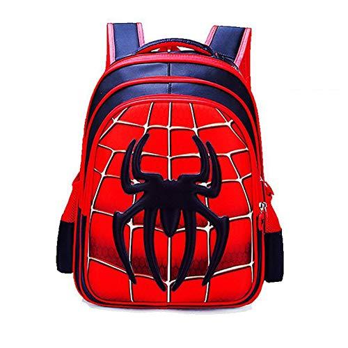 JKHN Mochila infantil Spiderman Anime Cartoon Impreso School Bag - Regalo para niños rojo mediano