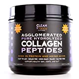 Agglomerated Pure Hydrolyzed Collagen Peptides High in Protein and Amino Acids Easy to Mix Grass-Fed Pasture Raised