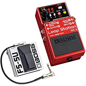 Boss RC-3 Looper Pedal + FS-5U Fußtaster Momentary Switch + keepdrum Patchkabel 30cm