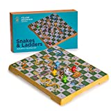 Yellow Mountain Imports Magnetic Snakes and Ladders Game Set - Medium Sized Set - Portable with Built-in Storage