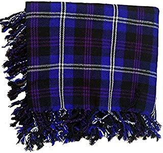 New Kilt Fly Plaid Acrylic Wool Scarf Rolled Fringe Shawl in