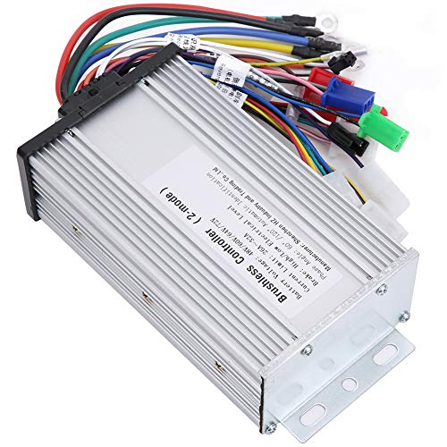 Tbest Brushless Motor Controller,12Tube Dual Mode Rectangula 48V 60V 64V 72V Brushless Speed Motor Controller for E‑Bike Electric Scooter