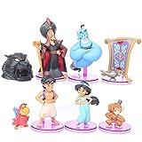 AMrjzr 7 Lámpara mágica de Aladino, Princesa Jasmine, Juguetes Hechos a Mano, Adornos de micropaisaj...