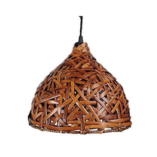 Zenghh Techo hechos a mano tailandesa de bambú de la lámpara retro original esférica pendiente de la luz rural Hierba Luz Parra Virgen Bosque tatami japonés arte decorativo del accesorio for la Casa R