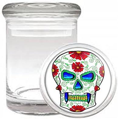 Odorless Air Tight Max 67% OFF Medical Skull-060 Glass Jar Finally popular brand