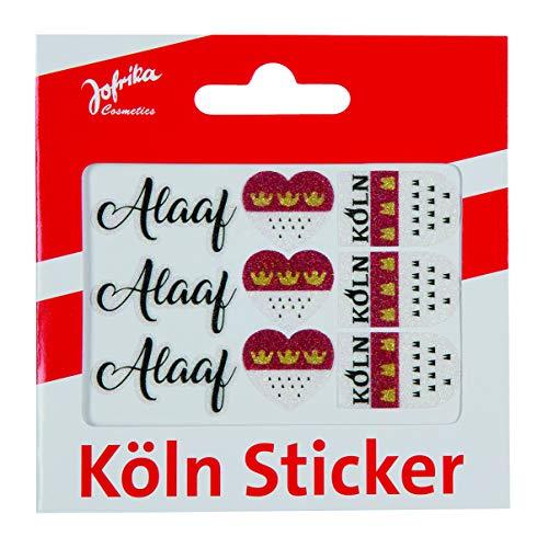 Jofrika Cosmetics Skin Sticker, Köln Alaaf o. Kölner Dom, Karneval rot und weiß (704011 - Köln Sticker Alaaf)