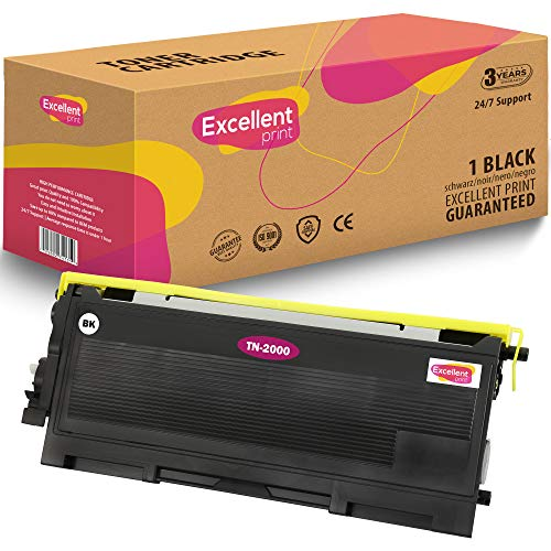 Excellent Print TN-2000 Compatible Cartucho de Toner para Brother HL-2032 HL-2030 HL-2040 MFC-7420