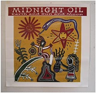 Midnight Oil Poster Earth & Sun & Moon And Artwork