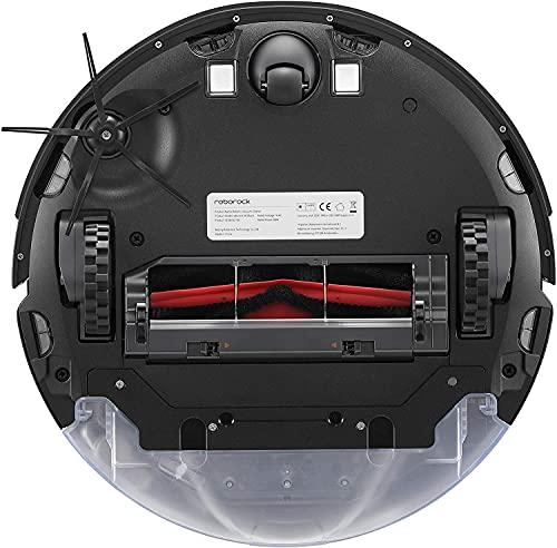 Roborock S6 MaxV Saug- und Wischroboter (Saugleistung 2500Pa, 180min Akkulaufzeit, 460ml Staubbehälter, 300ml Wassertank, 67dB Lautstärke, Adaptiver Routenalgorithmus, App-/Sprachsteuerung) Schwarz