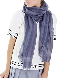 Vêtements Leisial Écharpe Foulard Châle de Coton Lin pour Femme Printemps Été 180cm x 90cm Echarpes