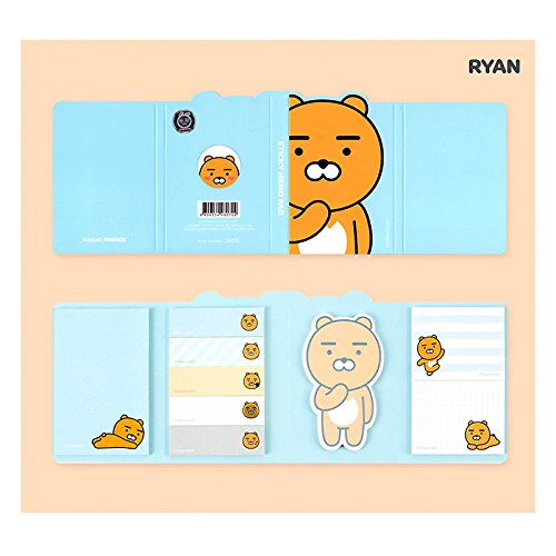 KAKAO FRIENDS 4 Sticky Memo Pad - Ryan Sticky Memo Pad
