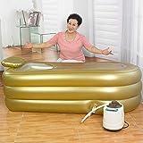 JIAWZQSN Sauna de vaporportátil, Sauna de Infrarrojos + baño de Doble Uso, tratamientopersonal de desintoxicación depérdida depeso de Sauna, bañera de Sauna Inflable multifunción