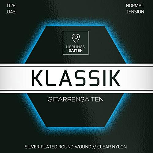 Gitarrensaiten Konzertgitarre - Nylon Saiten für Akustikgitarre (klassische Gitarre) | 6 Saiten-Set