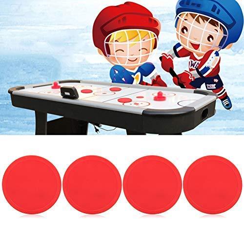 Alomejor 4 Stücke Air Hockey Paddel Air Ice Hockey Pucks Ersatz Air Hockey Tisch Red Pucks für Spieltische Arcade-Spiel(63mm)