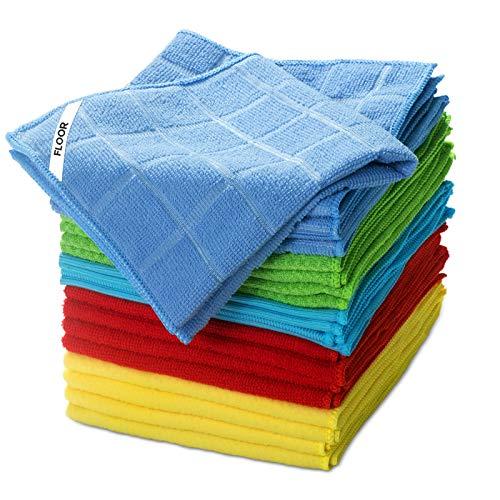 Masthome 25pcs Putzlappen Set 5 Farbe 33x33cm,Putztücher Mikrofasertuch Super Weich für alle Hausarbeit wie Glas,Boden und Auto