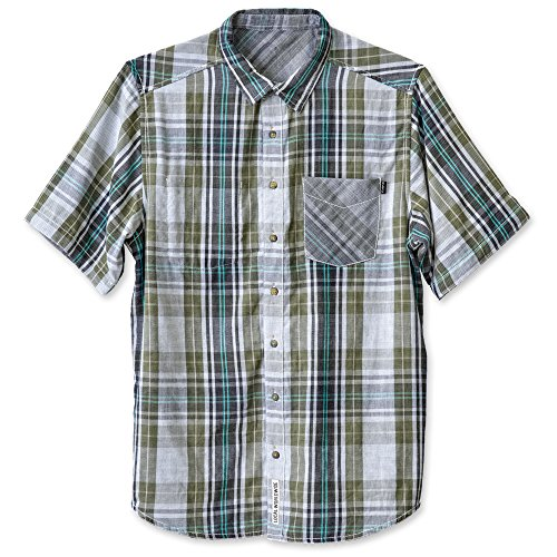 KAVU Men's Work It Button Down Shirts, Spring Valley, Large