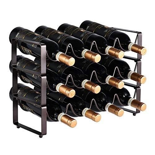 YFGQBCP botellero Hierro apilable Estante del Vino, de Estilo Europeo Botellero, Multi-Botella Creativo gabinete del Vino Estante de exhibición, Hogar, Restaurante Vino Gabinete Decoración